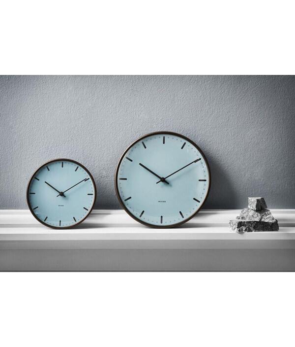 Wall Clock City Hall Royal Blue/210mm