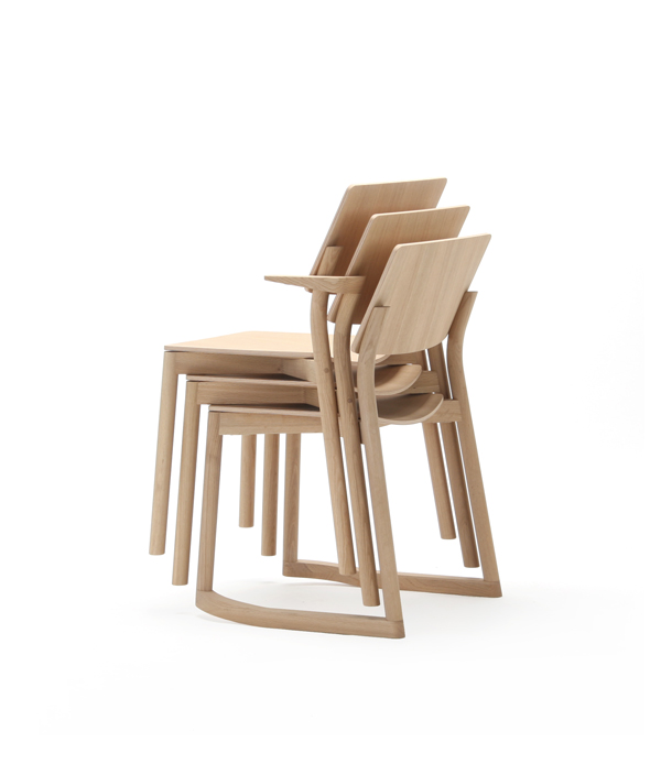 PANORAMA CHAIR WITH RUNNERS/PURE OAK