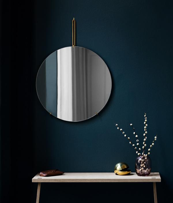Wall Mirror <Φ50  Black> / MOEBE (ムーベ)