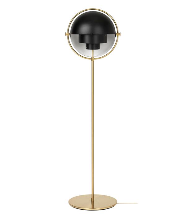 Multi-Lite Floor Lamp Brass / Black