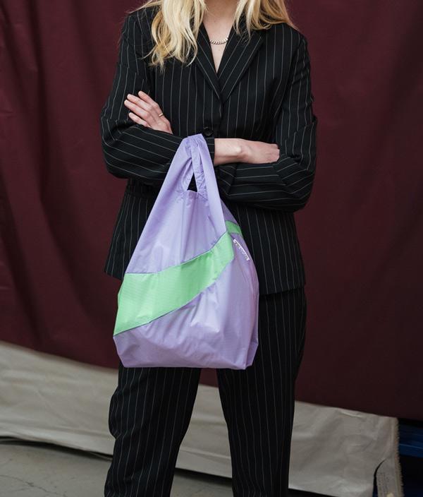 Shopping Bag M /Concept & Fluo Yellow /SUSAN BIJL