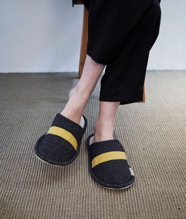 Art Rug Lambs Wool Slippers M <WNW>/ loomer  ( ルーマー)