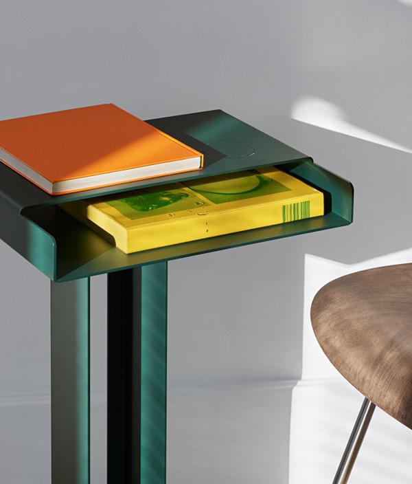 Meta Side Table /Dark Green