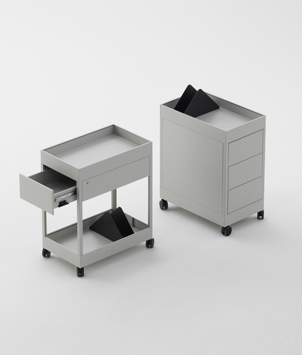 TROLLEY 1 DRAWER & TRAY <Charcoal>