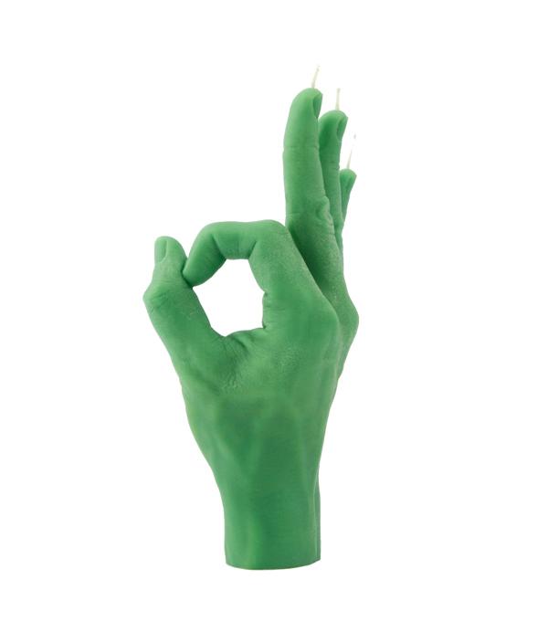 CANDLE HAND OK <Green>