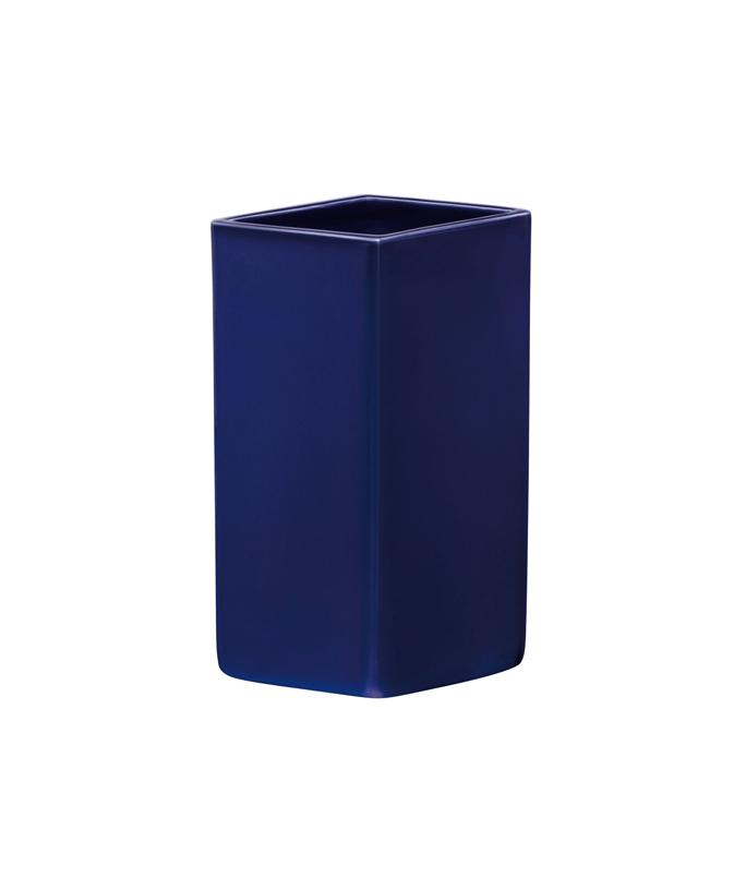 Ruutu ceramic vase 180mm <Dark Blue>/ iittala (イッタラ)