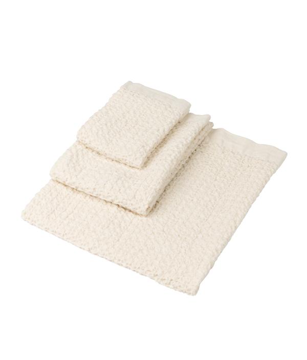 Cotton Linen Waffle Towel / L / Ivory