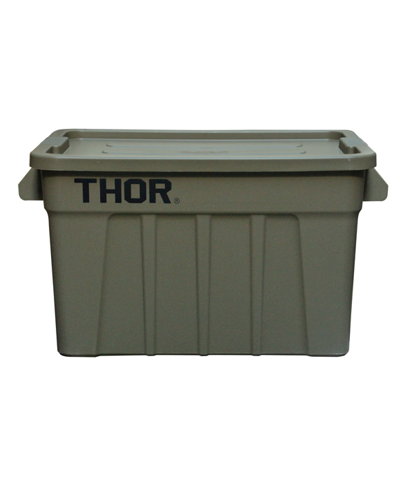 THOR Large Totes With Lid 75L /Olive
