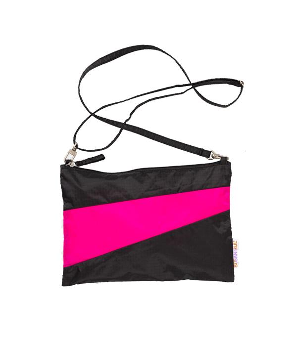 Pouch M /Black & Fluo Pink /SUSAN BIJL