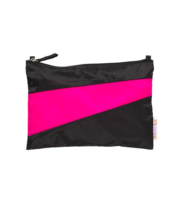 Pouch S /Black & Fluo Pink /SUSAN BIJL