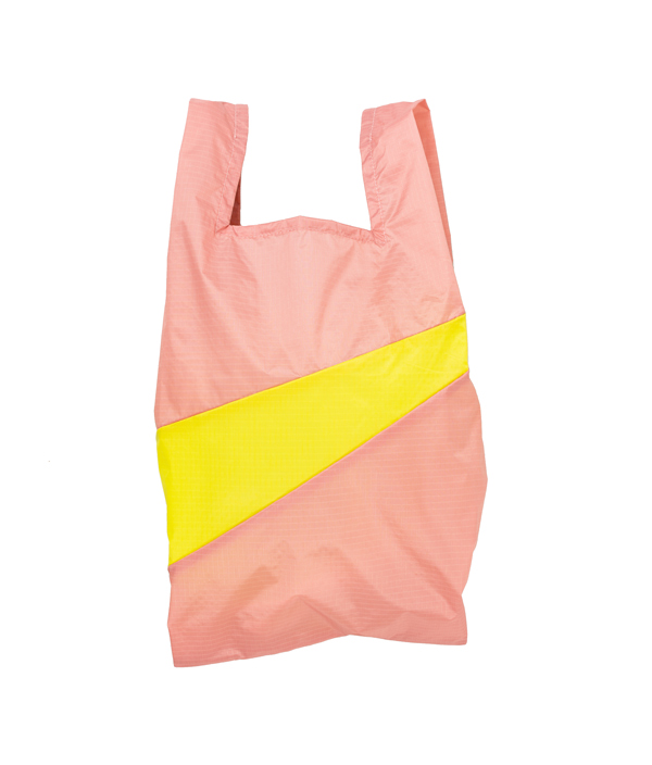 Shopping Bag M /Try & Fluo Yellow /SUSAN BIJL