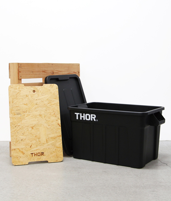 THOR Large Totes With Lid 75L /Black