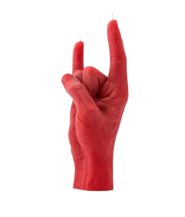 CANDLE HAND YOU ROCK <Red>