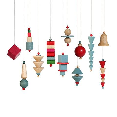 Bauhaus Christmas Ornaments