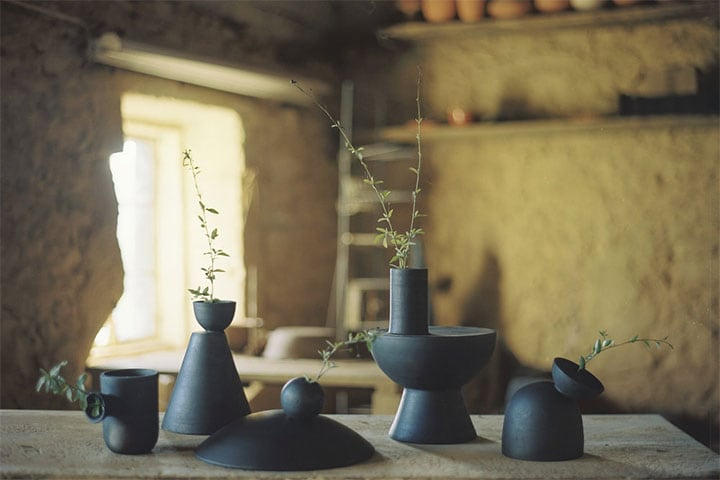 Origin CHARRED VASES
