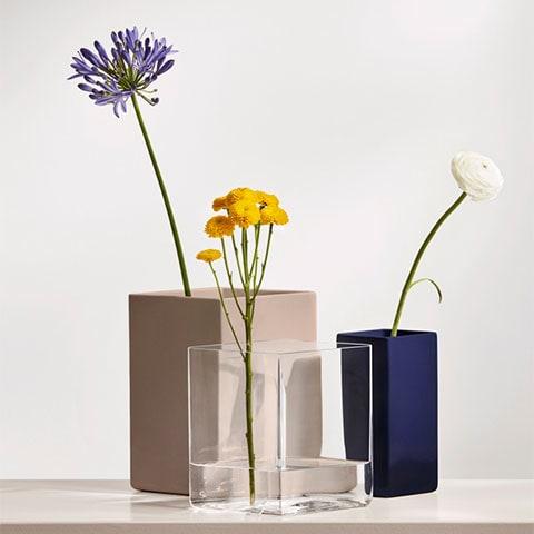 Ruutu ceramic vase
