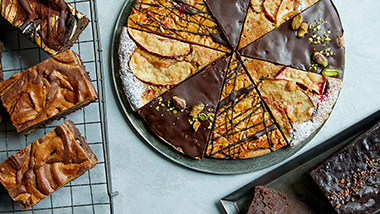 チョコレート好きのための2つのブラウニー