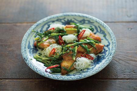 ハノイ風白身魚とディルの炒め物の写真