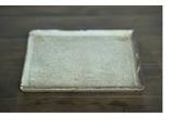 村上躍/砂化粧四角皿の写真