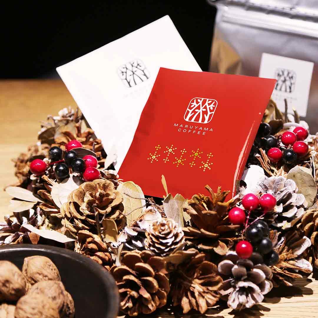 丸山珈琲 クリスマスブレンドコーヒーの試飲販売