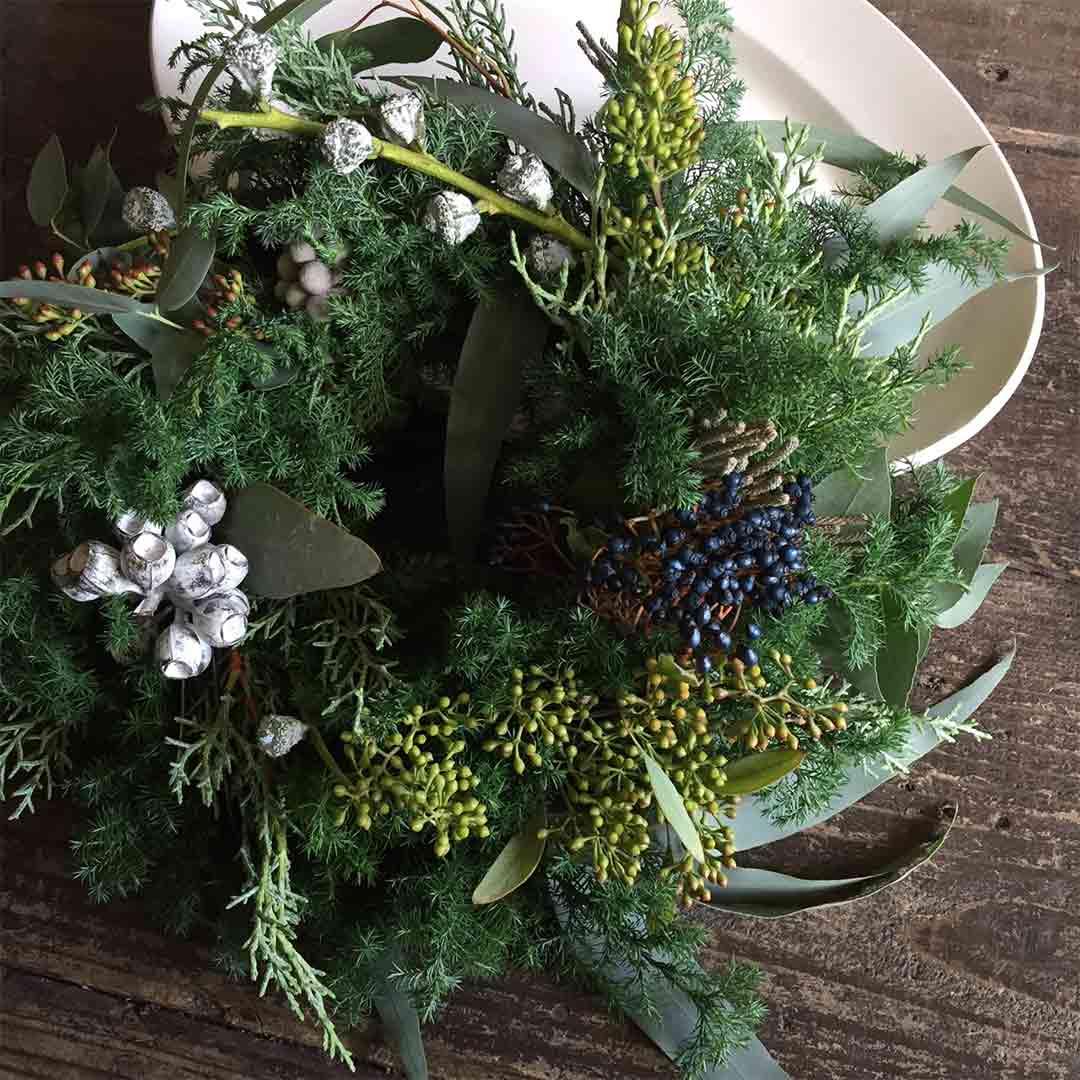 FLOWER griotte クリスマスリースつくり ワークショップ
