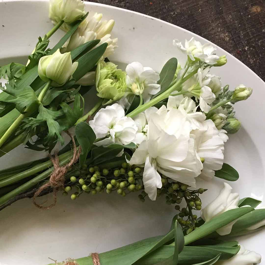 FLOWER griotte 白いブーケつくり ワークショップ