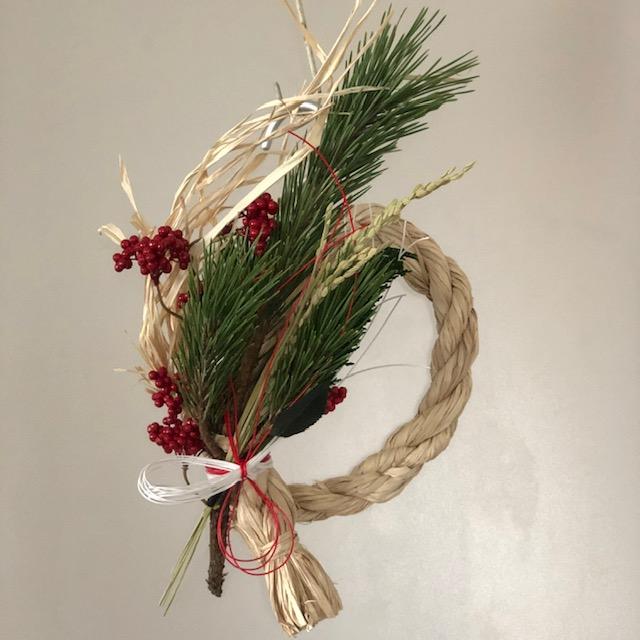 山本文さん ラフィアで綯う(なう)お正月飾りづくりワークショップ