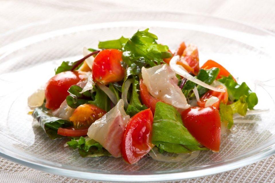 鯛とトマトのイタリアンサラダ