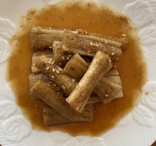酢醬油味のたたきごぼう