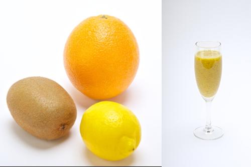 黄のスムージー メラニンの生成を抑える