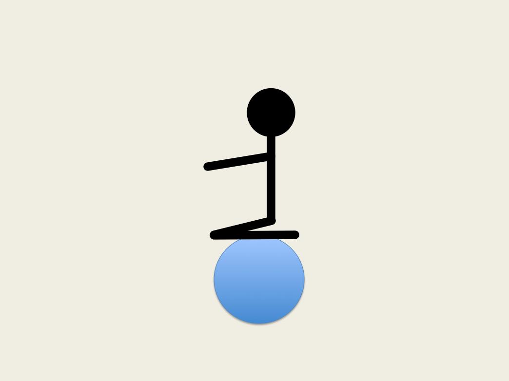 デスクチェアとしてのバランスボールのすすめ