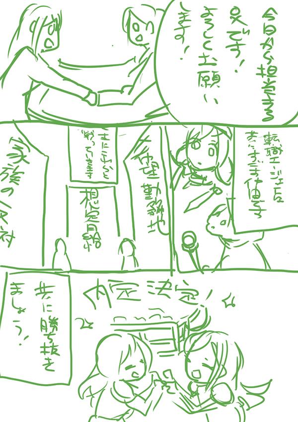 マンガのラフ3