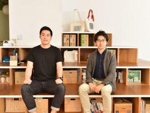 石川優貴さんと大内奏さんの取材風景