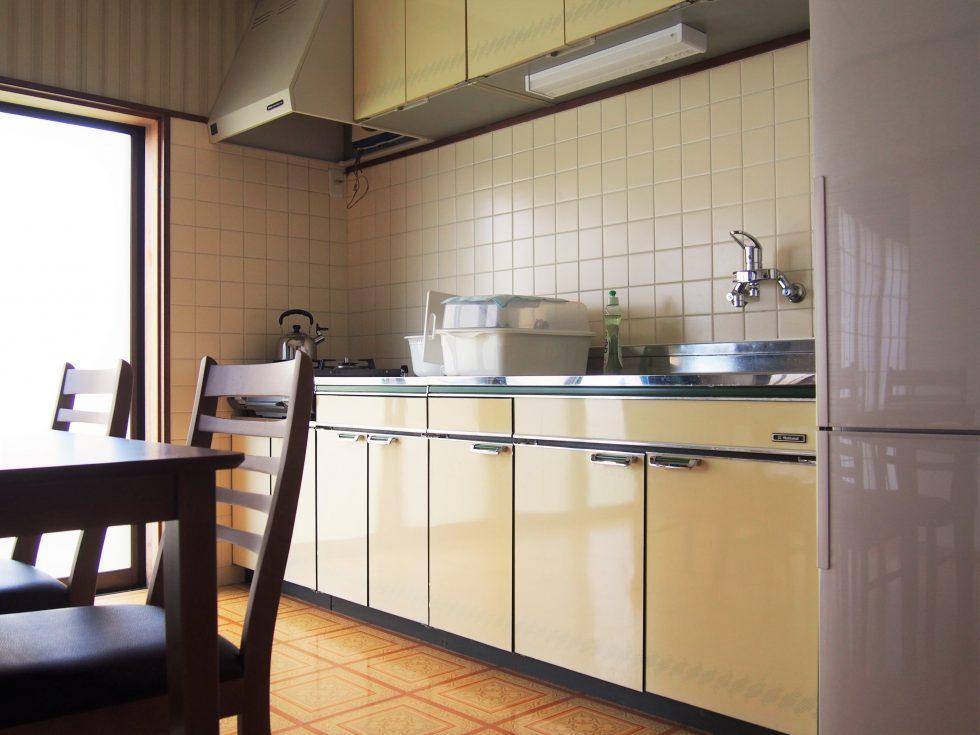 もちろんキッチンもフル完備で炊事も可能