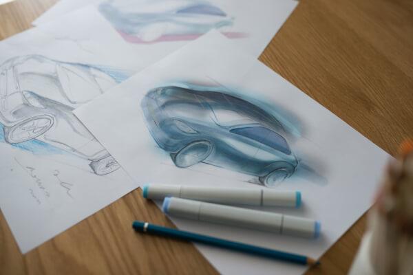 プロダクトデザイン作成中の画像