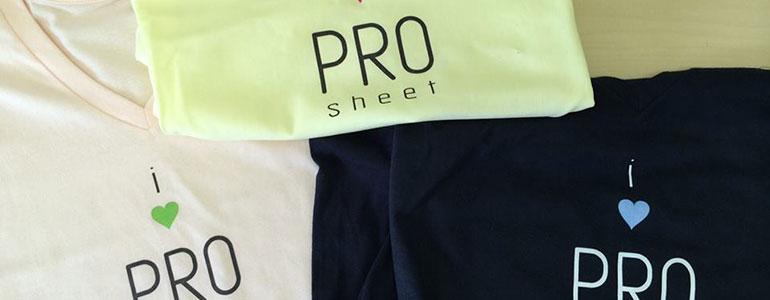 PROsheetTシャツ