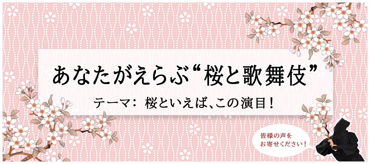 """あなたがえらぶ """"桜と歌舞伎"""""""
