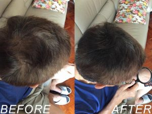MOTISS 魔髮粉 新生白髮 使用前後對比