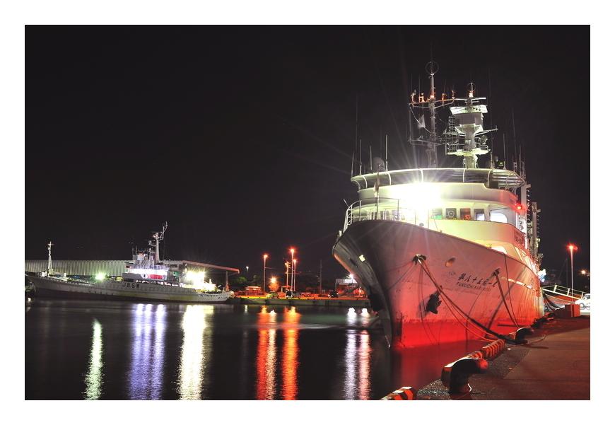 昨夜の焼津新港
