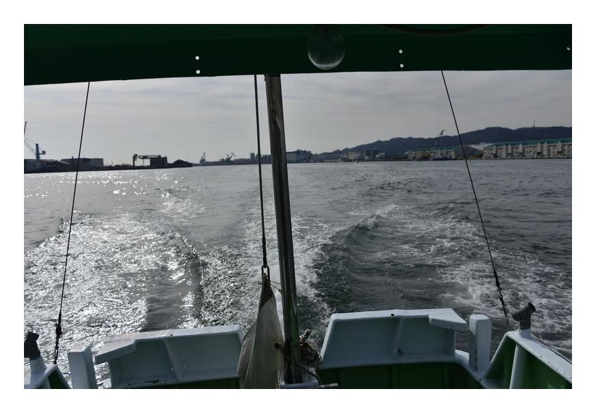 漁船の航跡