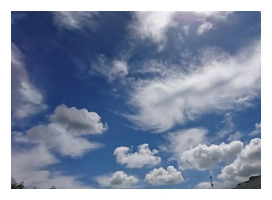 「雲が飛ぶ」