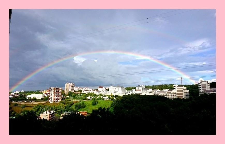 久しぶりに見た虹