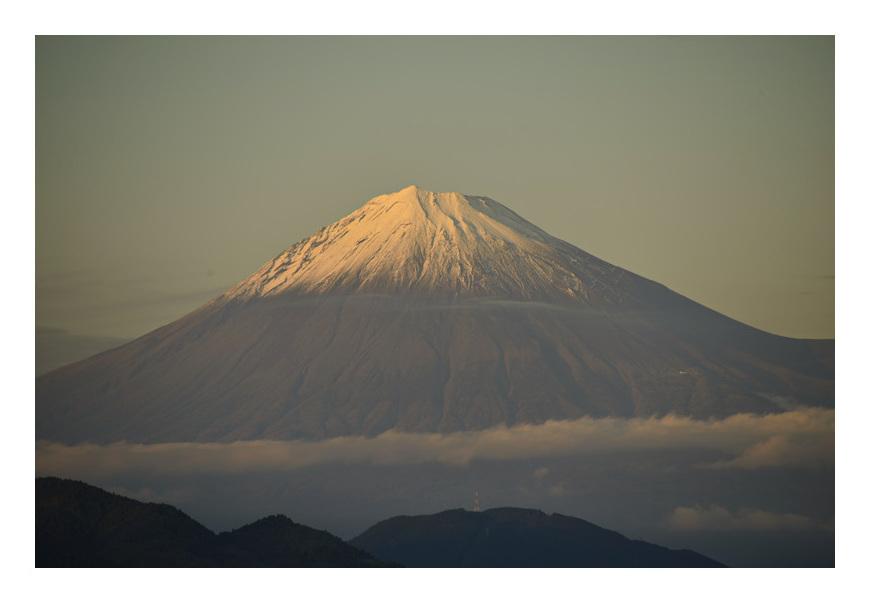 今日午後5時の富士山