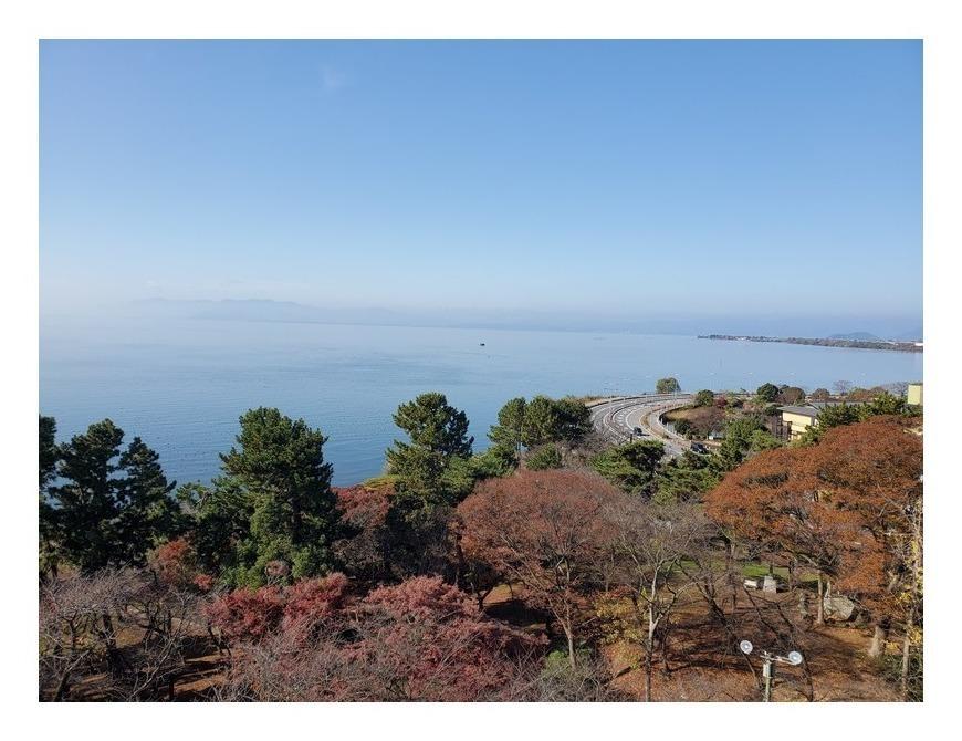 長浜城天守閣からの琵琶湖