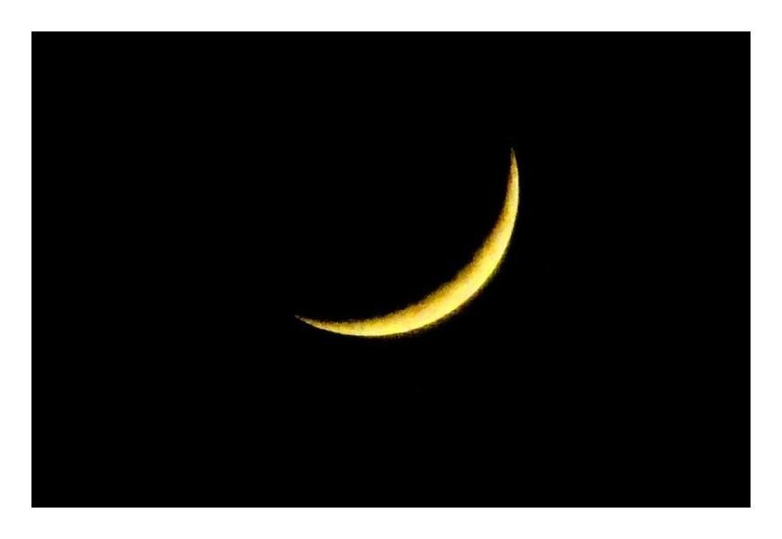 「スリムなお月様」
