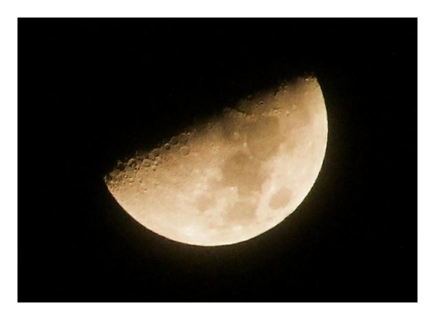 「上弦の月」