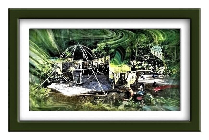 ●庭のガラクタ・ギャラリー!?