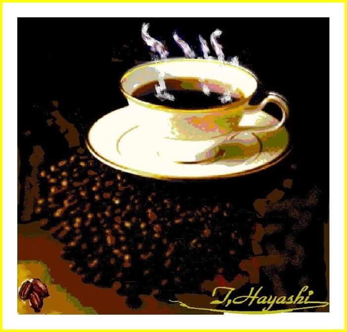 【Windowsペイント画:『コーヒーカップ』】御禮どすゑ♪(^_-)-☆