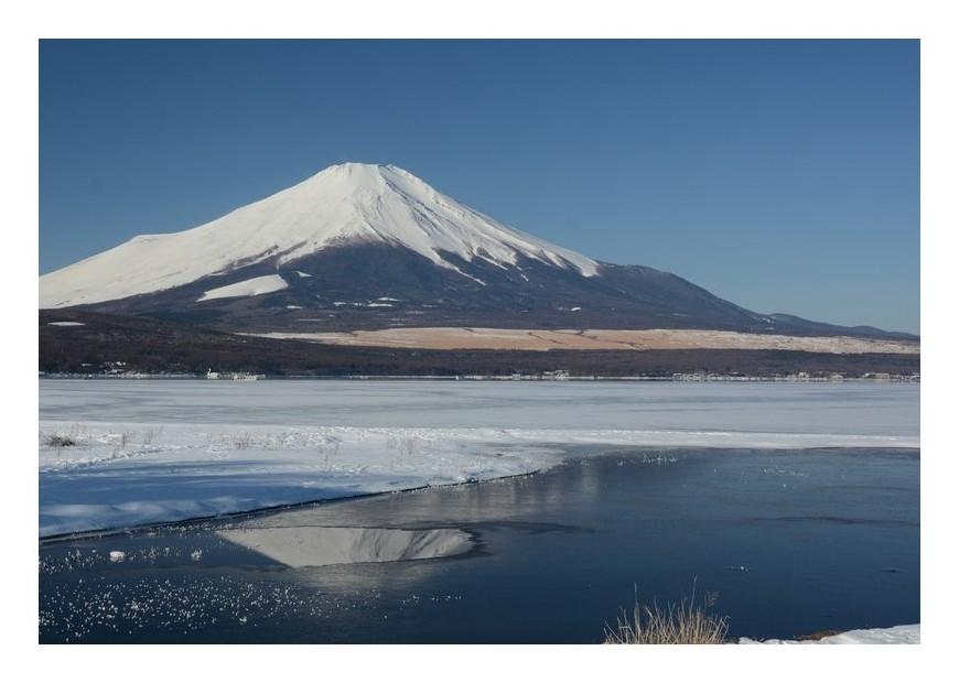 暑い日の寒い富士山
