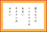 採りたての(五行歌)